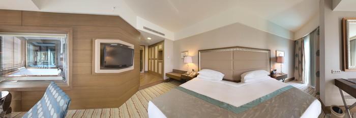 Panorama of the Corner Suite at the Hilton Dalaman Sarigerme Resort & Spa
