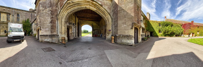 Panorama at the Thornbury Castle and Tudor Gardens