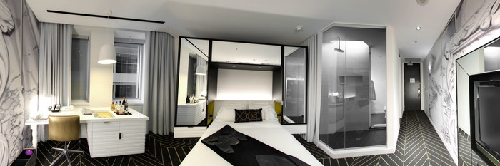 Panorama of the Cozy Room at the W Montreal