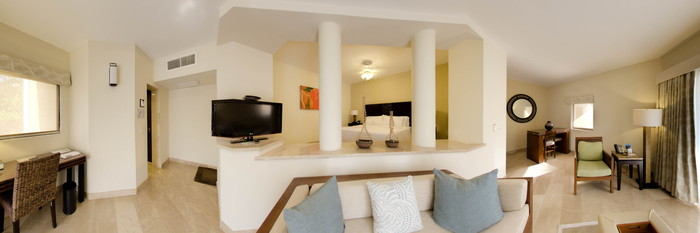 Panorama of the Deluxe Junior Suite at The Westin Golf Resort & Spa, Playa Conchal