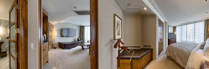 Panorama of the Deluxe One-Bedroom Suite at the Shangri-La Hotel, Vancouver