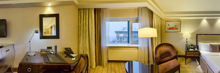 Panorama of the Deluxe Room at the InterContinental Moscow Tverskaya Hotel