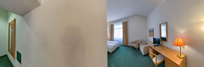 Panorama of the Deluxe Room at the Hotel Allegro