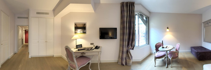 Panorama of the Deluxe Room at the Hotel Cour du Corbeau Strasbourg - MGallery Collection