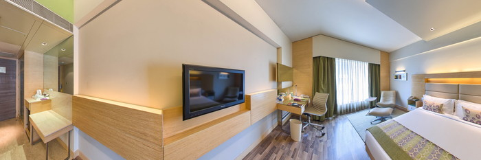 Panorama of the Deluxe Room at The Raintree Hotel - Anna Salai