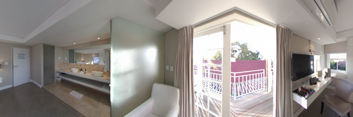 Panorama of the Deluxe Room at the Glen Boutique Hotel