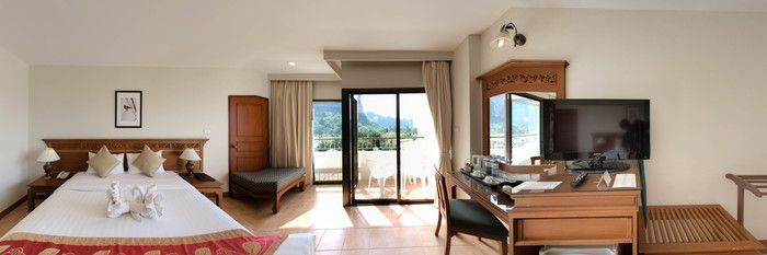 Panorama of the Deluxe Room at the Krabi Heritage Hotel