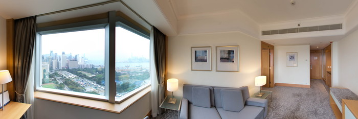Panorama of the Deluxe Suite at the Metropark Hotel Causeway Bay Hong Kong