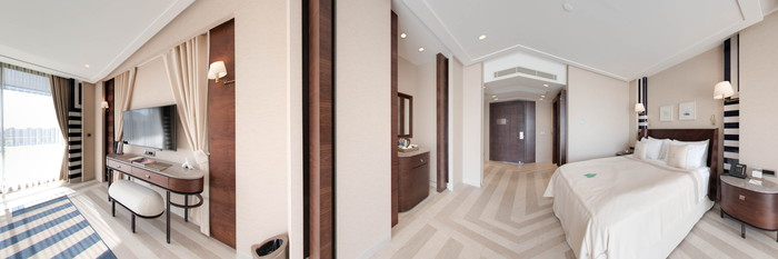 Panorama of the Deluxe Suite at the Rixos Premium Gocek