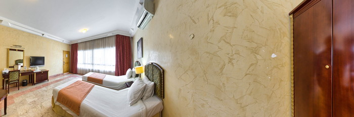 Panorama of the Deluxe Twin Room at the Verona Resort