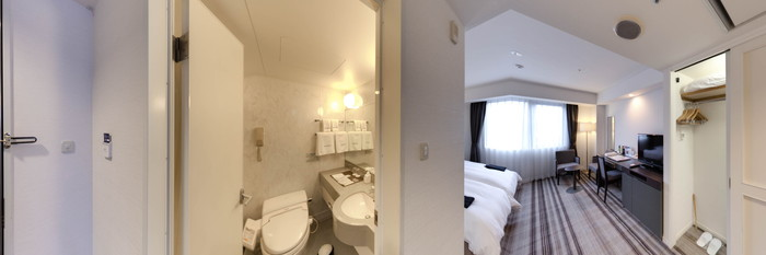 Panorama of the Deluxe Twin Room at the BEST WESTERN Hotel Takayama