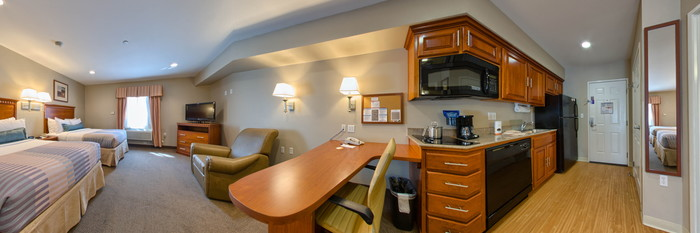 Panorama of the Double Queen Suite at the Candlewood Suites Lax Hawthorne