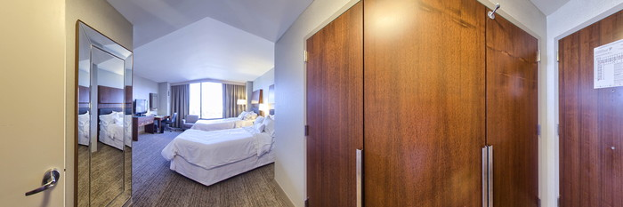 Panorama of the Double Room at The Westin Birmingham