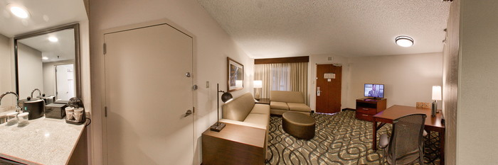 Panorama of the Double Room at the Embassy Suites by Hilton Dallas Love Field
