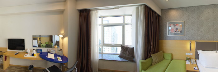 Panorama of the Double Room at the Holiday Inn Express Beijing Dongzhimen