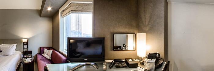 Panorama of the Double Room at the Hotel Trusty Kobe Kyukyoryuchi