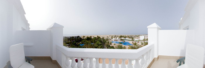 Panorama of the Double Room with View at the Hotel Riu Palace Maspalomas