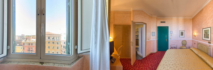 Panorama of the Double Standard Room at the Hotel Doria