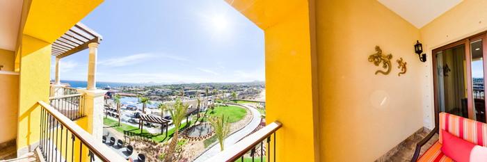 Panorama of the Encanto Ocean View Studio at the Hacienda Encantada Resort & Spa