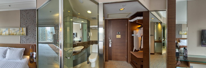 Panorama of the Exectuive Room-King at the Rosedale Hotel Kowloon