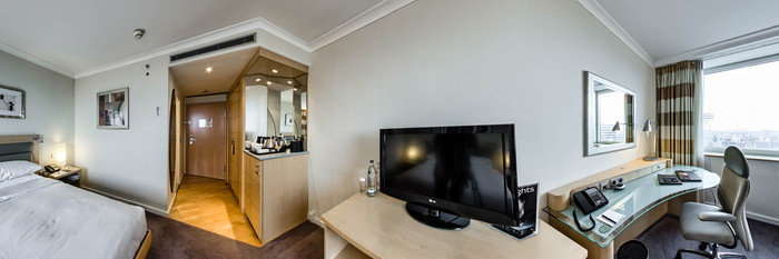 Panorama of the Executive Room at the Hilton Duesseldorf