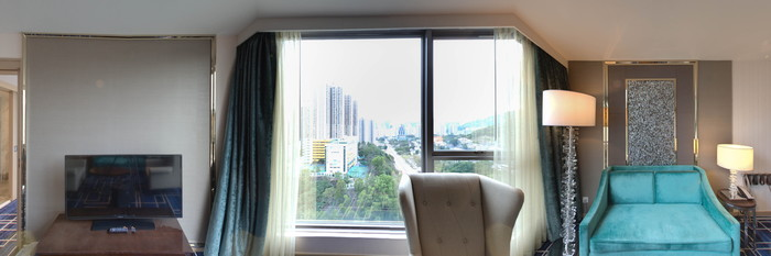 Panorama of the Executive Suite at the Dorsett Tsuen Wan, Hong Kong