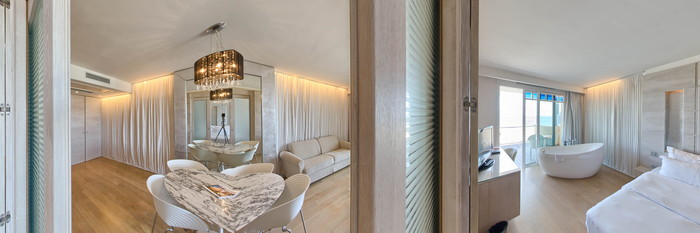 Panorama of the Executive Suite at the Savoia Hotel Rimini