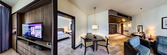Panorama of the Executive suite at the AVANI Deira Dubai Hotel