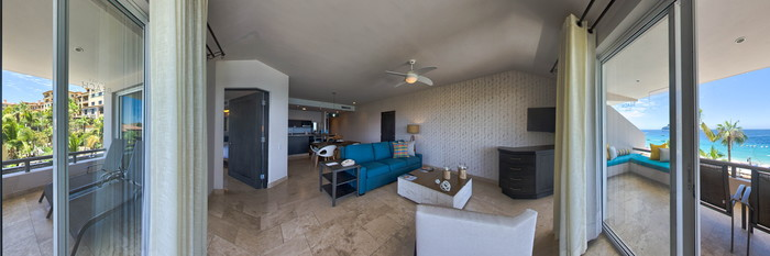 Panorama of the Executive Suite at the Cabo Villas Beach Resort and Spa