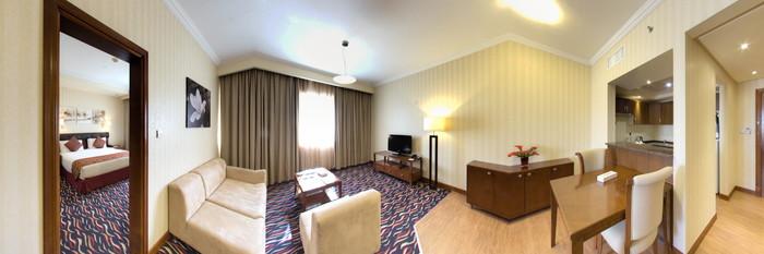 Panorama of the Executive Suite at the Cassells Al Barsha Hotel Dubai