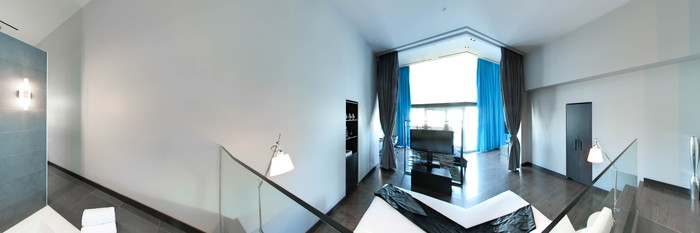 Panorama of the Extreme Wow Suite at the W Montreal