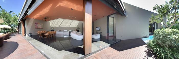 Panorama of the Extreme Wow Three Bedroom Pool Villa at the W Bali - Seminyak