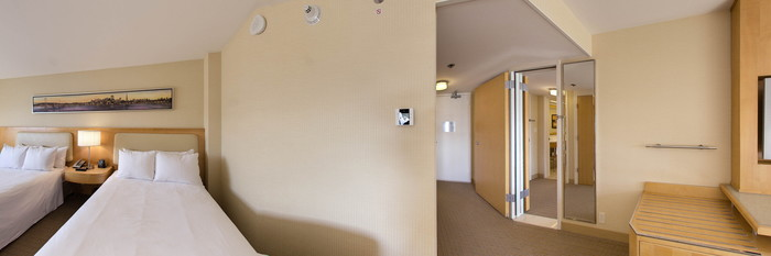 Panorama of the Family Suite at the Hilton San Francisco Airport Bayfront