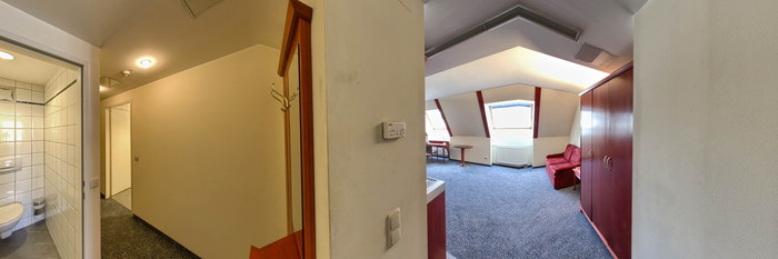 Panorama of the Family XL Room at the Hotel Allegro
