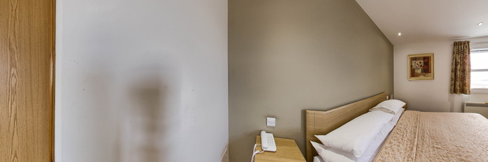 Panorama of the Front-View Double or Single Room at The Sandringham Hotel