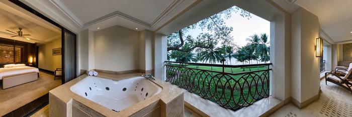 Panorama of the Grand Suite at the Grand Hyatt Goa