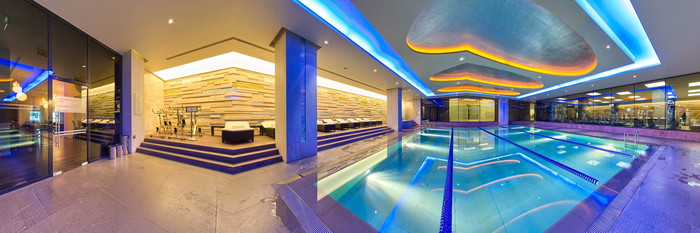 Panorama of the Indoor Pool at the Swissotel The Bosphorus