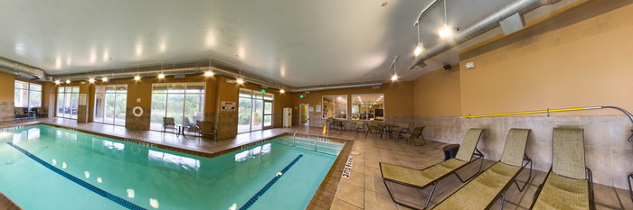 Panorama of the Indoor Pool at the Holiday Inn San Antonio NW - Seaworld Area