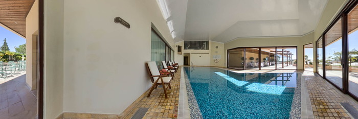 Panorama of the Indoor Pool at the Quinta Do Lago Hotel