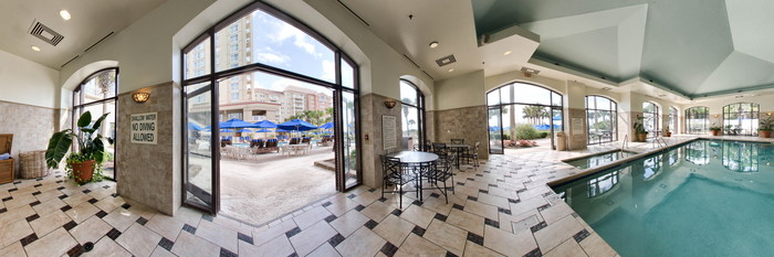 Panorama of the Indoor Pool at the Myrtle Beach Marriott Resort & Spa at Grande Dunes
