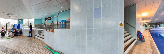 Panorama of the Indoor Pool at the Copthorne Hotel Cardiff-Caerdydd