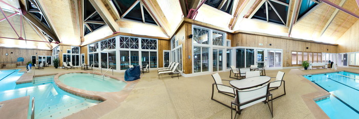 Panorama of the Indoor Pool at the Kingsmill Resort