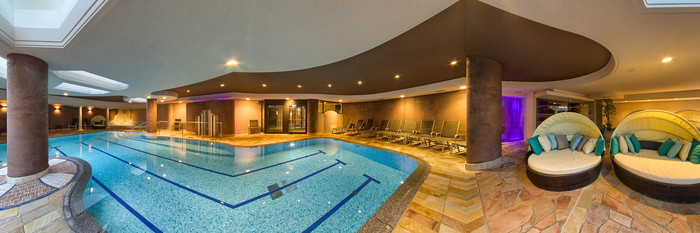 Panorama of the Indoor Swimming Pool at the Hotel Ideal Park