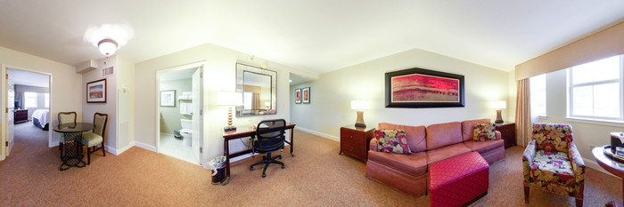 Panorama of the Junior Suite at the Astor Crowne Plaza - New Orleans French Quarter