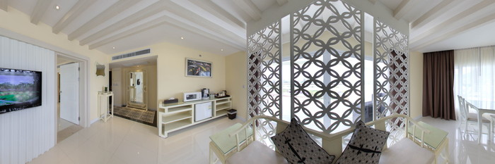 Panorama of the Junior Suite at the Andaman Embrace Resort & Spa