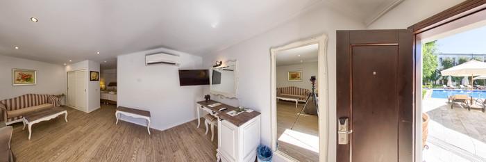 Panorama of the Junior Suite at the Marina Vista Bodrum