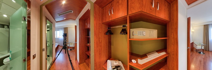 Panorama of the Junior Suite at the Hotel Monte Triana