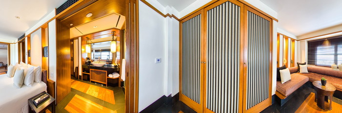 Panorama of the Junior Suite at The Setai