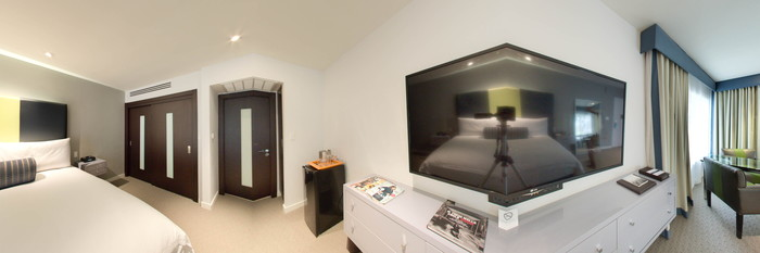 Panorama of the Junior Suite at the Sunset Marquis