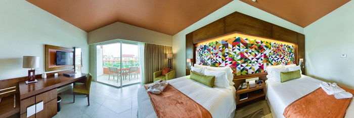 Panorama of the Junior Suite with Pool View at Breathless Punta Cana Resort & Spa